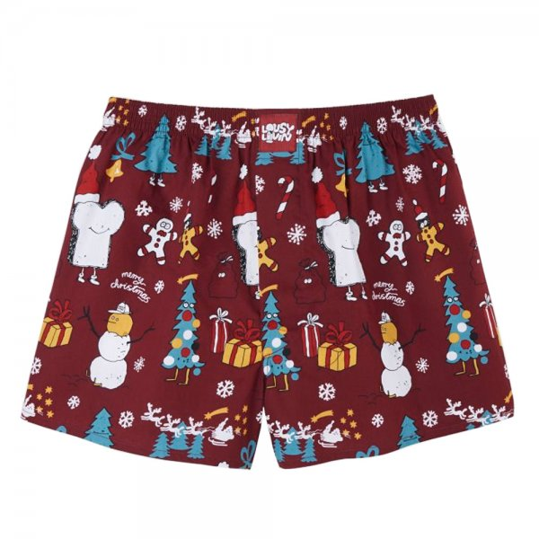 Lousy Livin Weihnachts-Boxershorts Merry Merry (burgundy)
