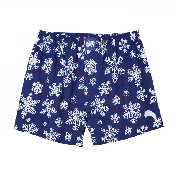 Lousy Livin Weihnachts-Boxershorts Snow Flakes (night blue)