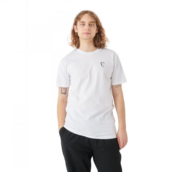 Cleptomanicx T-Shirt Embroidery Toast (white)