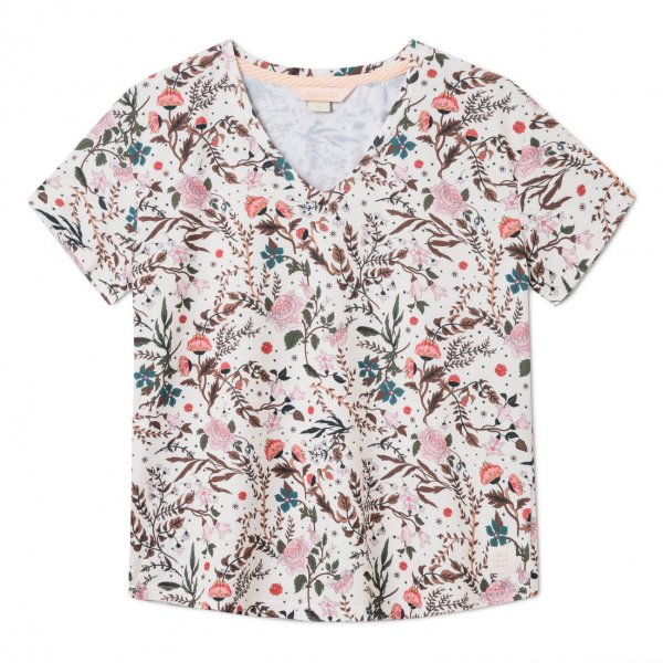Femi Stories Damen T-Shirt Ayo Rock Flowers