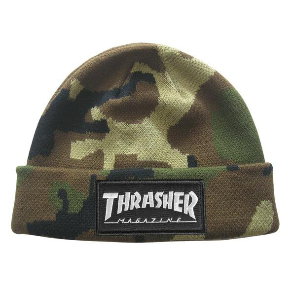 Thrasher Beanie Logo Patch (camo)