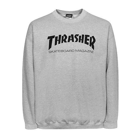 7533de90b4b Thrasher Sweatshirt Skate Mag Crewneck heather grey S