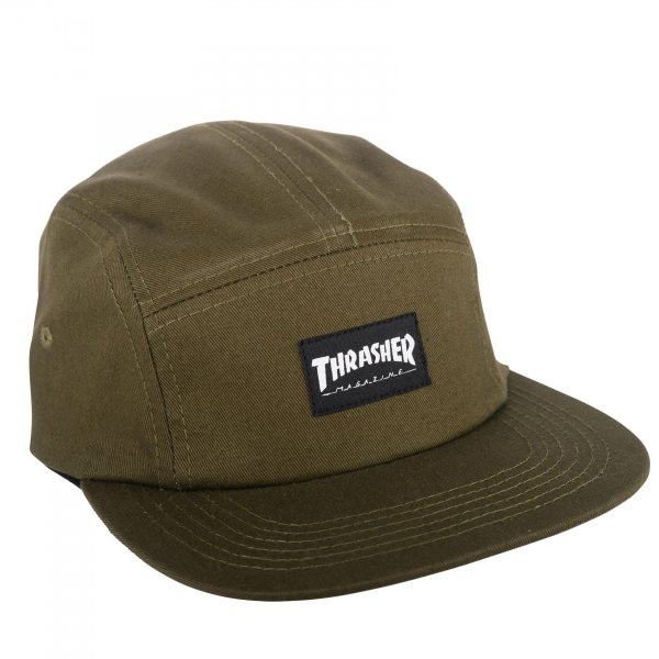 Thrasher 5-Panel Cap (army green)
