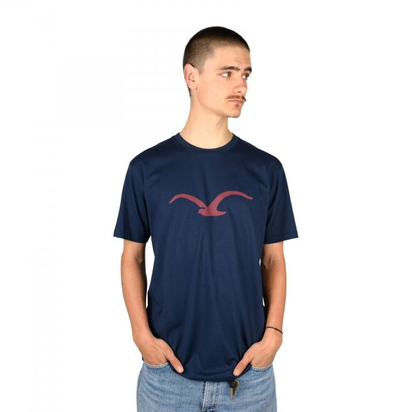 Cleptomanicx T-Shirt Möwe (dark navy merlot red)