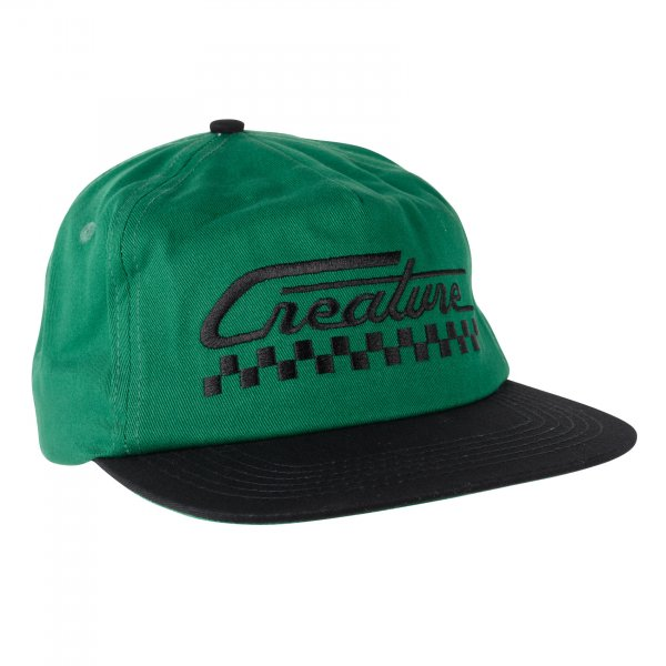 Creature Cap Grease Monkey Snapback (dark green black)