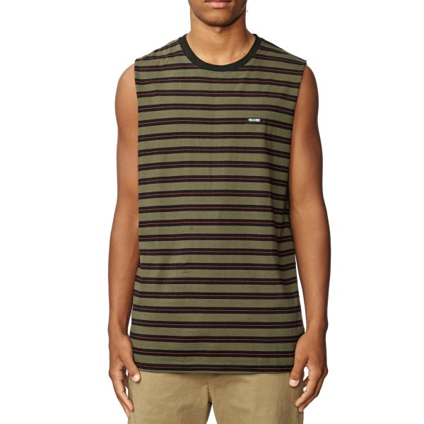 Globe Tank Top Moonshine Stripe Muscle (military)
