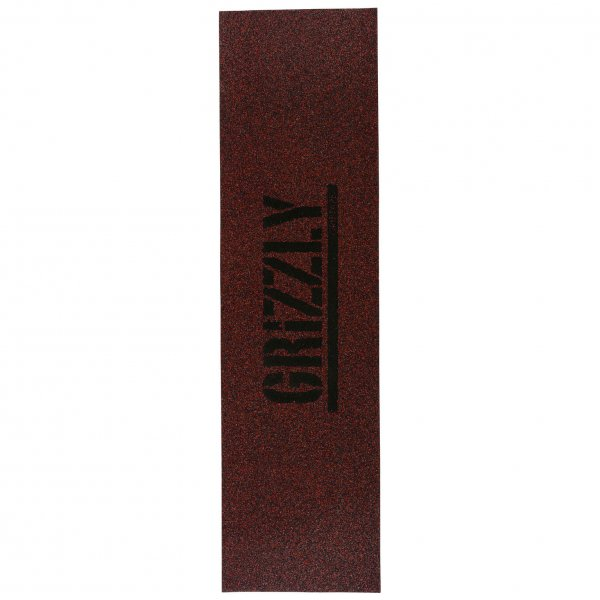 Grizzly Skateboard Griptape Glitter (red)