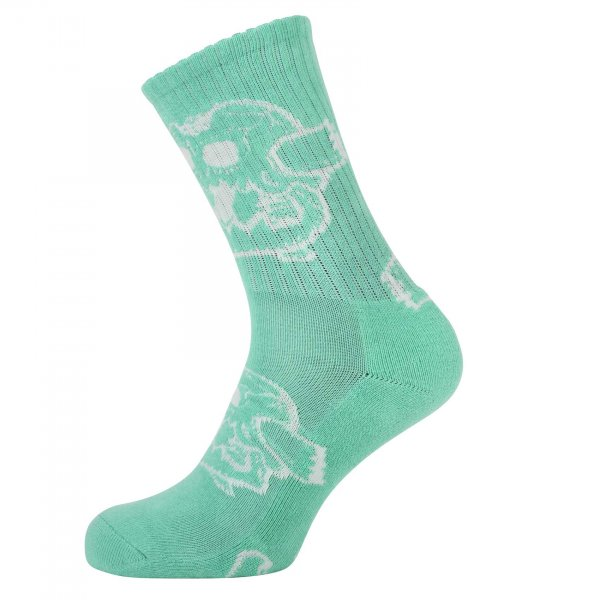 Toy Machine Socken Monster Skull (aqua)