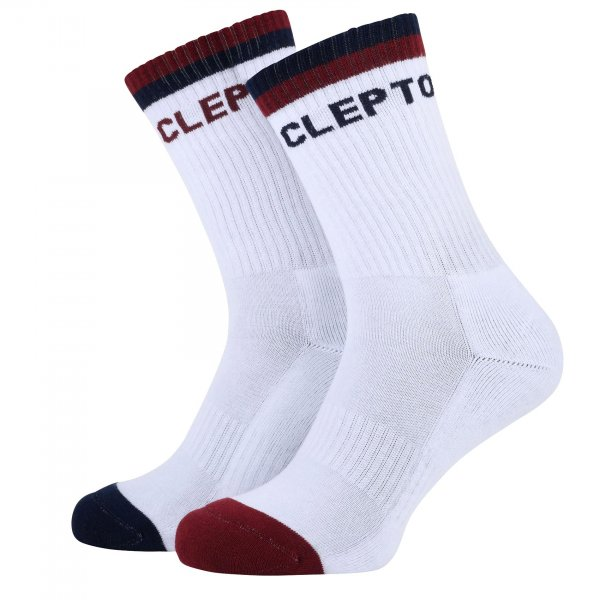Cleptomanicx Socken College (white)