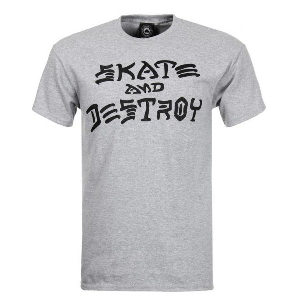 Thrasher T-Shirt Skate & Destroy (heather grey)
