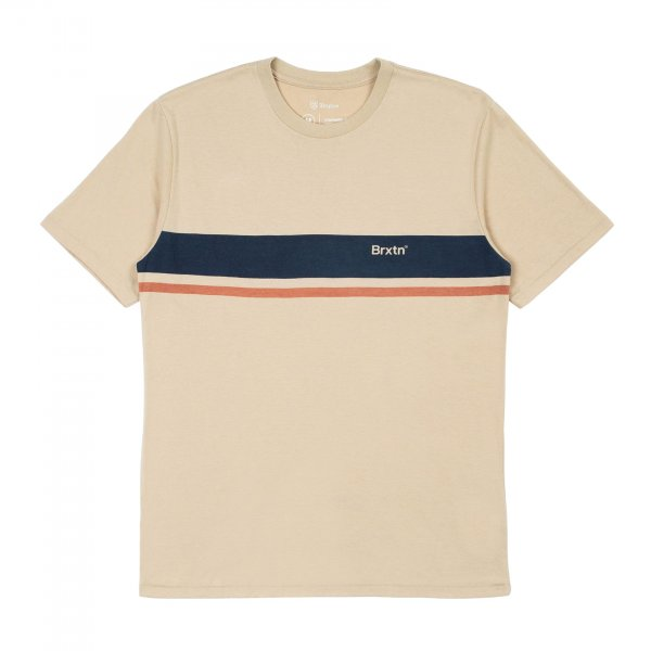 Brixton T-Shirt Gate Stripe (safari)