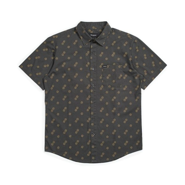 Brixton Hemd Charter Print (washed black copper)