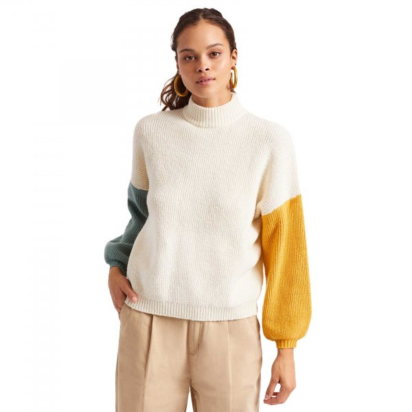 Brixton Damen Strickpullover Burning Up (off white)