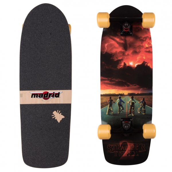 Madrid Skateboards x Stranger Things Cruiser Komplettboard ST2 Road Poster 74,3cm