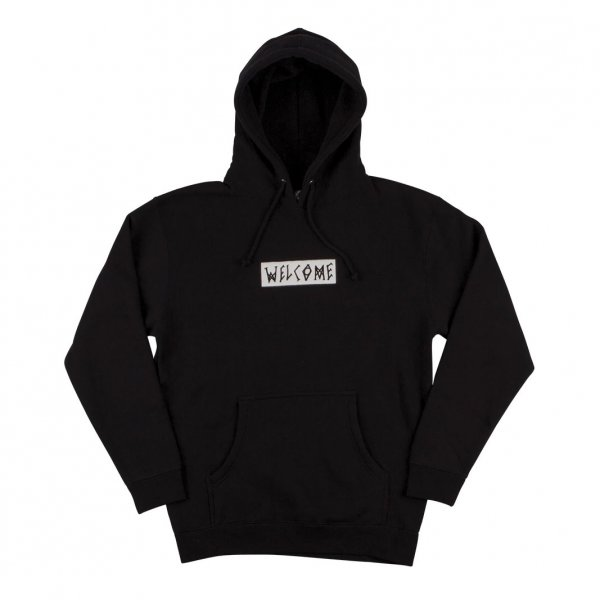 Welcome Hoody Scrawl Embroidered (black)