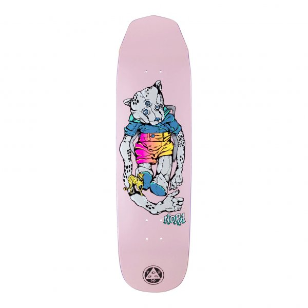 """Welcome Skateboard Deck Nora Vasconcellos Teddy on Wicked Queen 8.6"""" (pink)"""