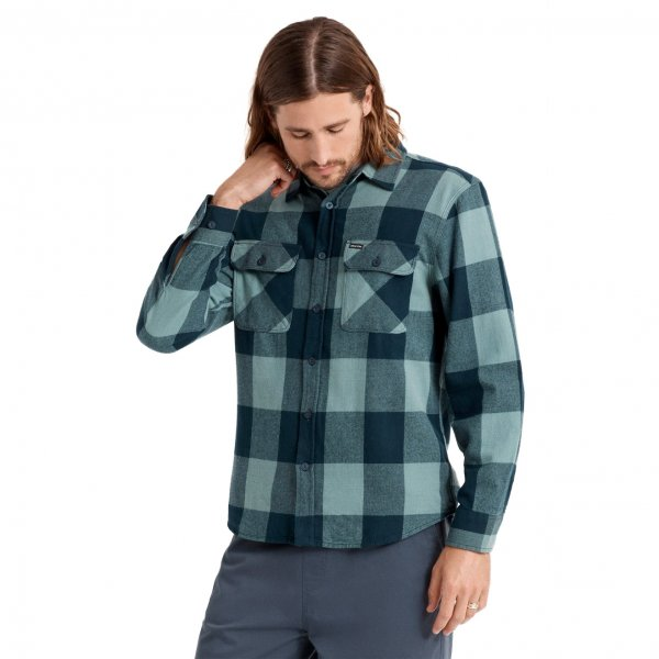 Brixton Hemd Bowery LW Flannel (washed navy ocean)