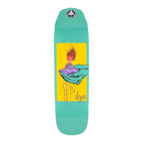 """Welcome Skateboard Deck Nora Vasconcellos Pro Model Soil on Wicked Queen 8.6"""" (teal dip)"""
