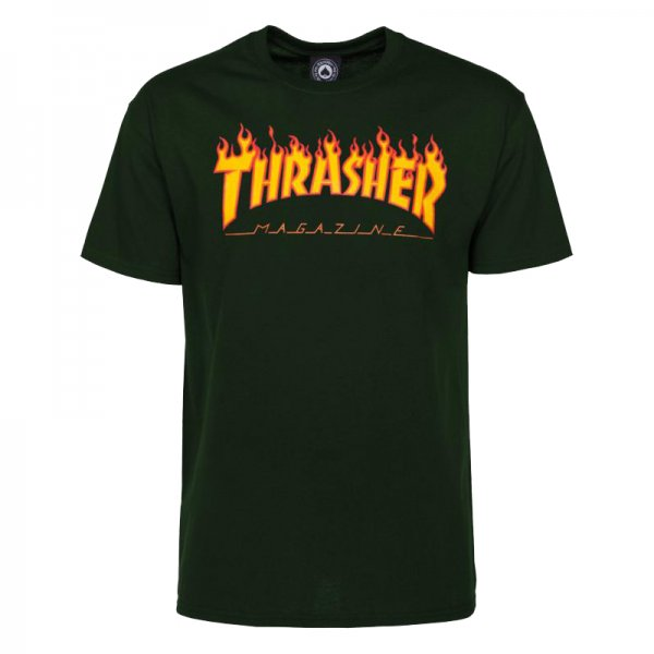 Thrasher T-Shirt Flame (forest green)