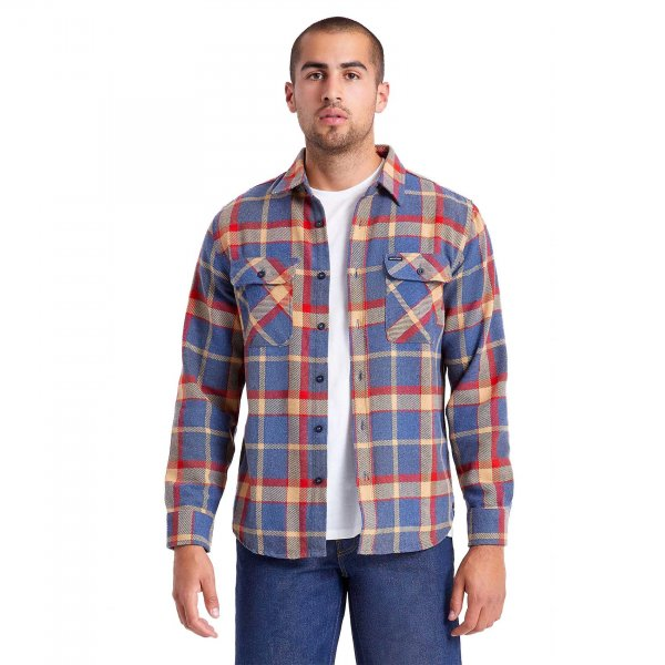 Brixton Hemd Bowery Flannel (blue red)