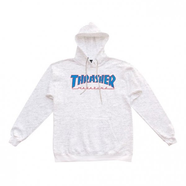 Thrasher Hoody Outlined (ash grey)