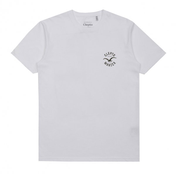 Cleptomanicx T-Shirt Games (white rifle green)