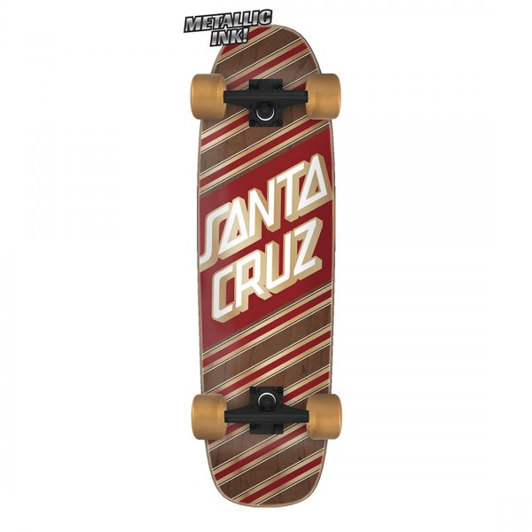 "Santa Cruz Cruiser Komplettboard Street Skate 29.4"" (brown red)"