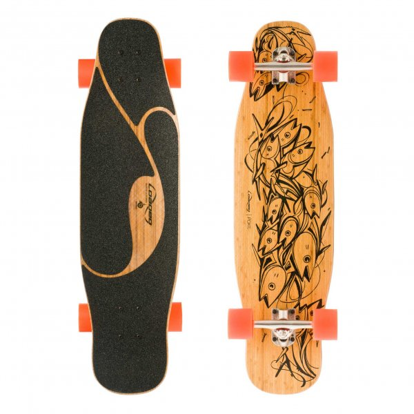 Loaded Boards Longboard Komplettboard Poke Carving & Slashing Kicktail 86,4cm