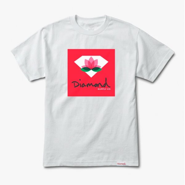 Diamond Supply Co. T-Shirt Lotus Box Sign (white)